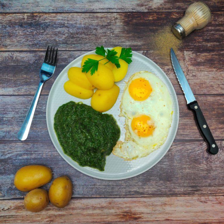 Read more about the article Spinat, Kartoffel und Ei