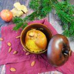 Bratapfel in einer Bratapfelschale