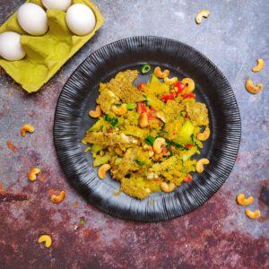 Read more about the article Blumenkohlreis mit Sesam Omelett
