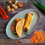 Linsenpfannkuchen mit Gemüsefüllung PCO-Syndrom Ernährung